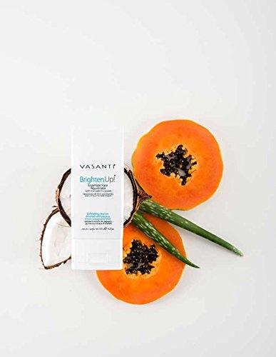 Vasanti Cosmetics Brighten Up! Enzymatic Face Rejuvenator Exfoliating Face Wash by VASANTI - Get Healthy Glowing Skin - Original Size (120g) by Vasanti Cosmetics (Image #5)