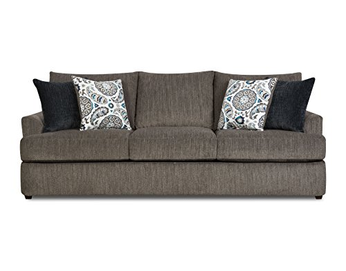 Simmons Upholstery Grandstand Flannel Sofa, Husk