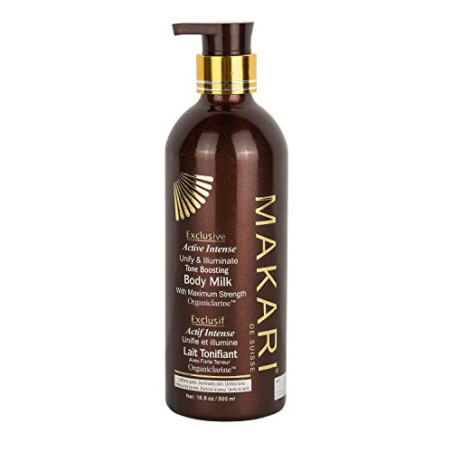 Makari Exclusive Skin Toning BODY Milk 16.8oz - Lightening, Brightening & Toning Lotion - Advanced Active Intense Whitening Treatment for Dark Spots, Acne Scars, Sun Patches, Stretch Marks