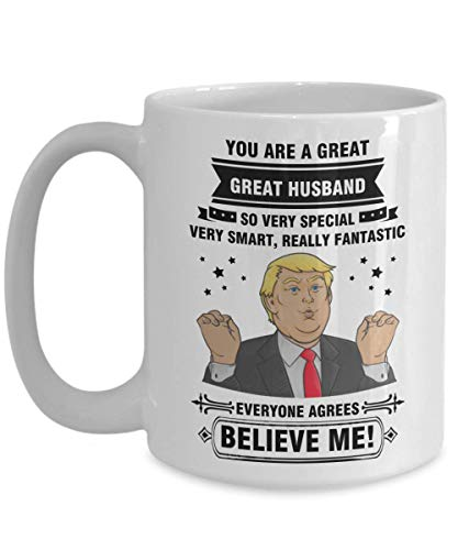 husband gift from wife funny trump mug birthday anniversary fathers day -