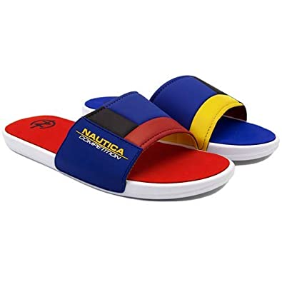Amazon.com: Nautica Competition Slides, Hombre: Shoes
