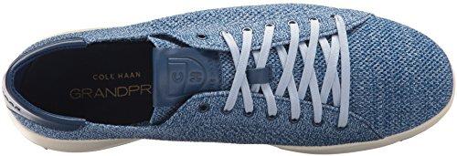 Cole Haan Mannen Grandpro Tennis Stichlite Sneaker Marine Pioen / Riverside Heathered