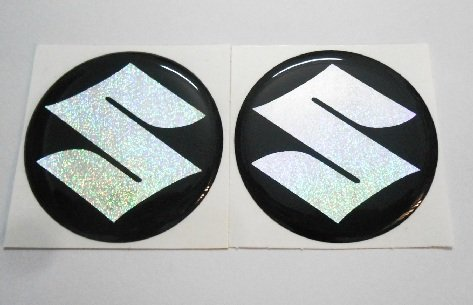 fgyhty 3D Motorcycle Plating Emblem Badge Decal Tank Wheel Logo S Sticker Protector Cover Paster for Suzuki