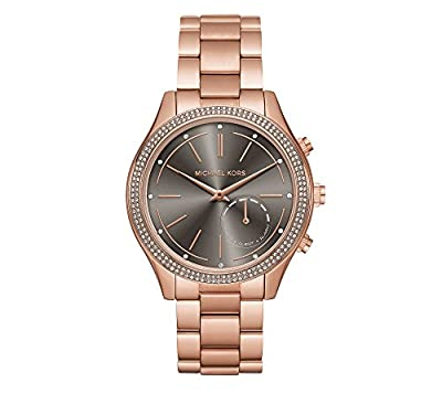 Michael Kors Women's 42mm Access Slim Runway Rose Goldtone Pav= Hybrid Smart Watch by Michael Kors