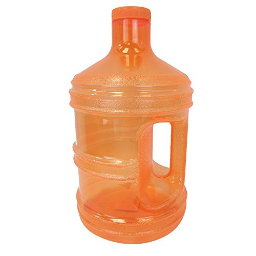 1 Gallon Leak-Proof BPA Free Reusable Plastic Drinking Water Big Mouth Bottle Jug Container with Holder Drinking (Spray Jug)