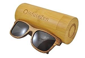 Zebra Wood Sunglasses, Wooden Sun Glasses for Men & Women, Trendy Unisex Shades