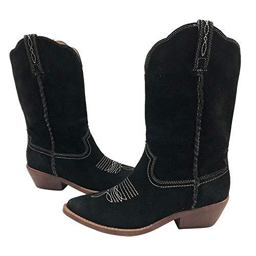 - Patricia Nash Womens Bergamo Leather Pointed Toe Mid-Calf, Black, Size 8.0