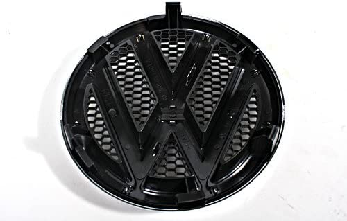 Genuino parachoques delantero parrilla cromado negro emblema Logo