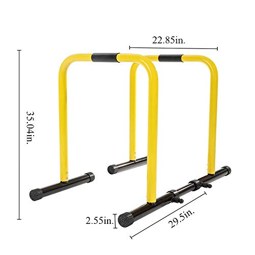 RELIFE REBUILD YOUR LIFE Dip Station Functional Heavy Duty Dip Stands Fitness Workout Dip bar Station Stabilizer Parallette Push Up Stand by RELIFE REBUILD YOUR LIFE (Image #3)