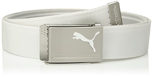 Puma Golf 2018 Mens Reversible Web Belt, (Quarry/White, One Size)