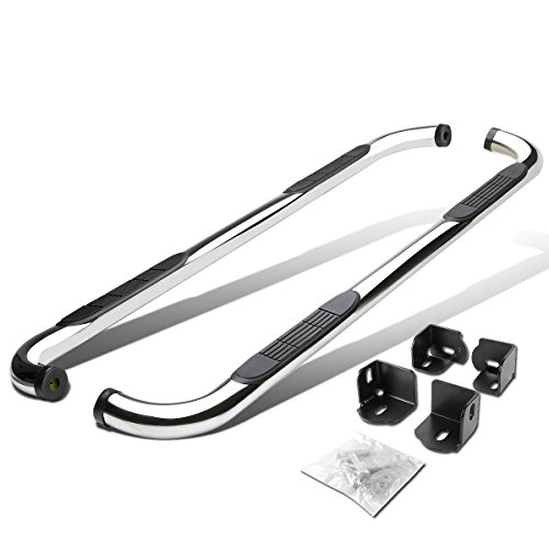 For Colorado/Canyon/I-Series Extended Cab 3 inches Side Step Nerf Bar Running Board (Chrome) 2005 Chevy Colorado Extended Cab