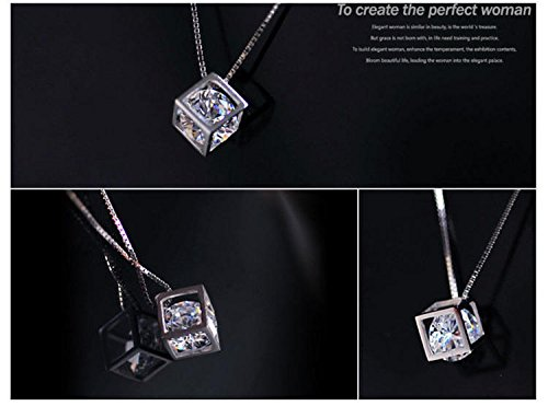Generic s925 silver box necklace love clavicle chain necklace window of the students birthday gift