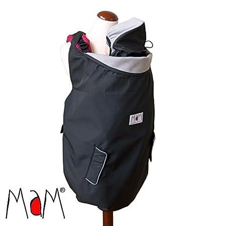 Manduca Deluxe - Cobertor para portabebés, color negro y gris