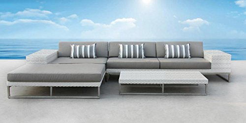 Outdoor Patio Wicker Furniture Sofa Sectional 3pc Resin Couch Set (Texas Outdoor Furniture)