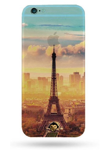 Monkey Cases® Eiffelturm - Handyhülle für iPhone - Schutz Cover - Paris - Frankreich (iPhone 6 / 6s)