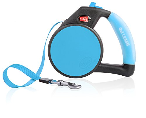 Dog Leash - Retractable Gel Pet Leash - World's Most Comfortable Handle - Blue Medium by WIGZI