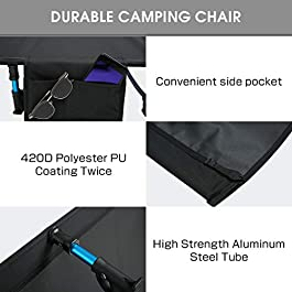 SOVIGOUR Folding Camping Cot for Adults, Portable Collapsible Camping Bed, Aluminum Heavy Duty Compact Cot with Pillow and Storage Bag for Outdoor Camping Tent Hunting