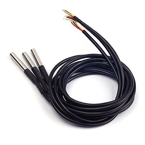 Cylewet 3Pcs DS18B20 Temperature Sensor Digital Thermal