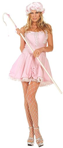 Little Bo Peep Satin Adult Costume Size 2-4 Small/Medium -