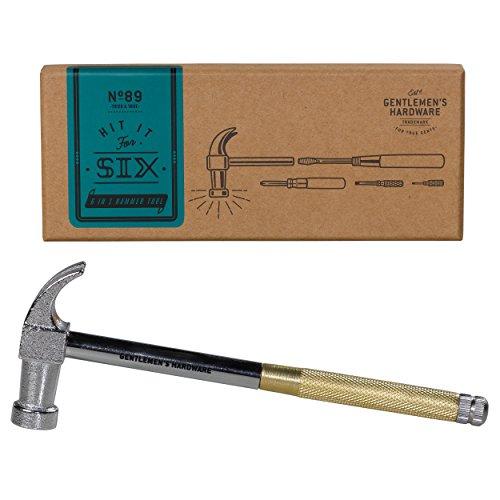 Gentlemen's Hardware Two in One Hammer & Screwdriver Multi-Tool (6 Piece Set) by Gentlemen's Hardware (Image #2)