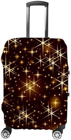 スーツケースカバー 伸縮素材 トラベルダストカバー キャリーカバー 紛失防止 汚れや傷防止 お荷物保護 トラベルダストカバー 着脱簡単 通気性 海外旅行 出張用 便利グッズ 男女兼用 きらびやかな金色の星