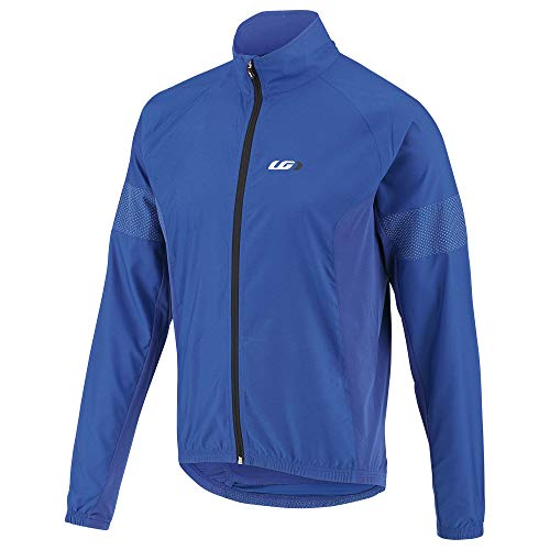 Louis Garneau Men's Modesto 3 Bike Safety Windbreaker Jacket, Cobalt Blue, - Bike Jackets Street Men