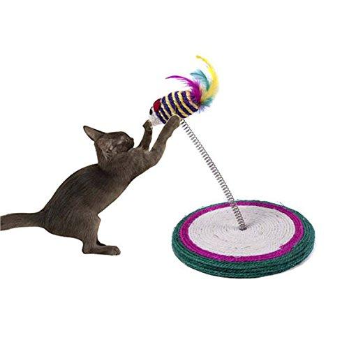 UEETEK Scratching Post Sisal jouer jouet pour chat avec Cat Toy Mouse(random color)