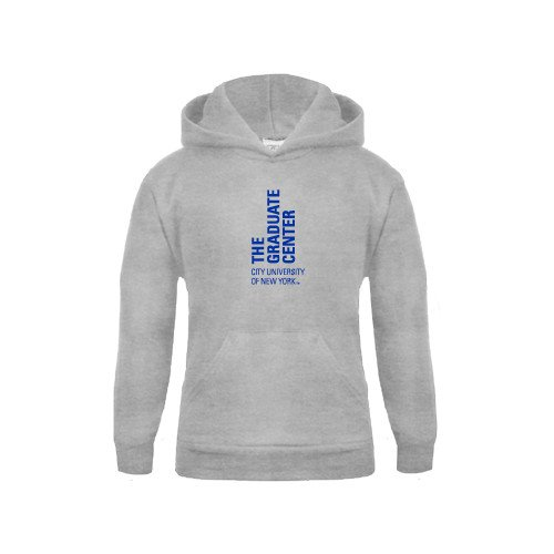 CUNY Graduate Center Youth Grey Fleece Hood Official Logo