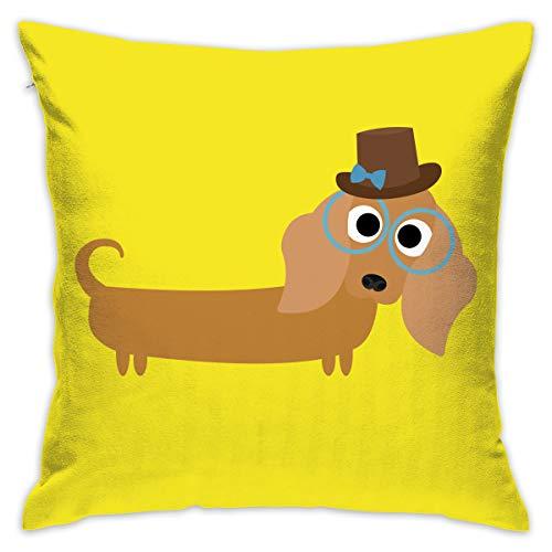 Karen Felix Throw Pillow Covers Long Haired Dachshund Decorative Cushion Case for Sofa Bedroom Car 18 X 18 Inch 45 X 45 cm]()