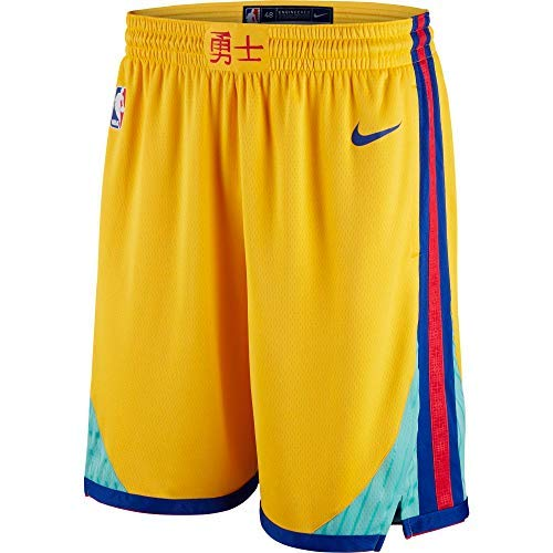 (Nike Golden State Warriors City Edition Swingman Dri-FIT Basketball Shorts - Gold (Medium))