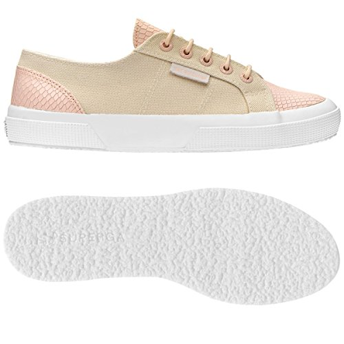 Superga 2750 Cotleasnakeu, Baskets Basses Mixte Adulte, Bianco IVORY-PINK
