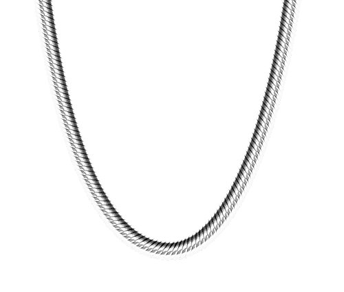 925 Sterling Silver Snake Chain 1mm 18
