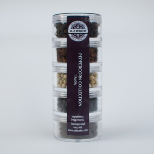 (SALT TRADERS Whole Peppercorn Collection & Assortment Sampler. A unique combination of the best gourmet seasonings!)