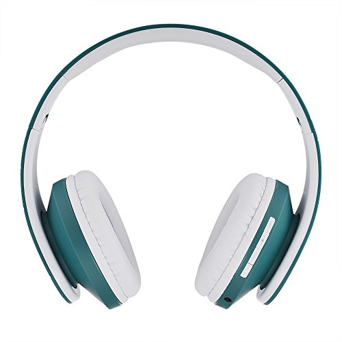 Powerlocus Bluetooth Over Ear Headphones Wireless Stereo Foldable Headphones Wireless And Wired Headsets With Built In Mic Micro Sd Tf Fm For Iphone Samsung Ipad Pc Blue White Gear Up To Fit