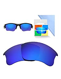 HEYDEFO Mirror Polarized Replacement Lenses for Oakley Flak Jacket XLJ Sunglasses-Multi Options