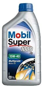 Mobil 151181 Super 1000 X1 - Aceite semisintético de motor (15W-40, 1 l)