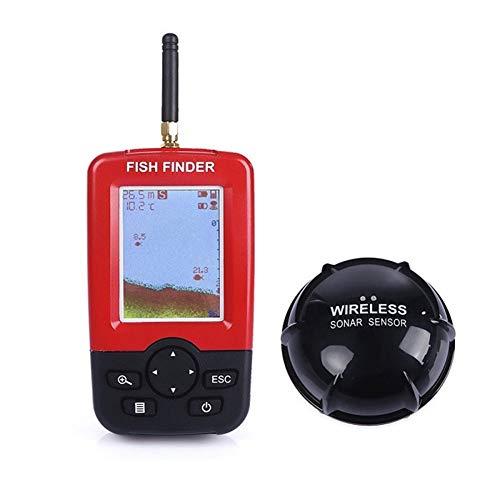 Evav-YTY Fish Finder Wireless Depth Sounder Fish Finder Alarm Underwater Fishing Camera Echo Sonar Sensor Fishfinder Detector Transducer
