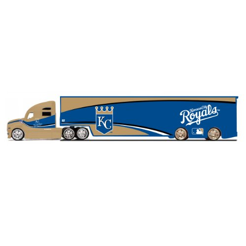 MLB Kansas City Royals Top Dog Tractor Trailer Transport 1:64 Scale (Scale Replica Diecast Tractor Trailer)