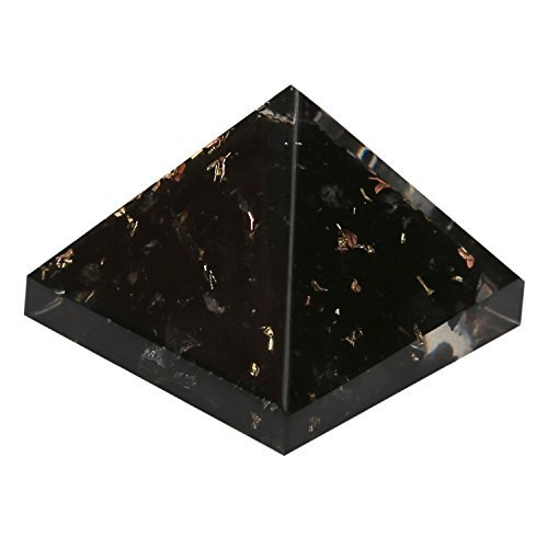 5Elements Energy Generator Black Tourmaline Orgone Pyramid for EMF  Protection Chakra Healing Meditation with Copper (1 and 1 Inches)