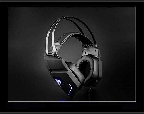 HNSYDS ゲームの7.1チャンネルの頭部装着型のゲーミングヘッドセット専用のブラックのケーブルゲームヘッドセット ゲーミングヘッドセット