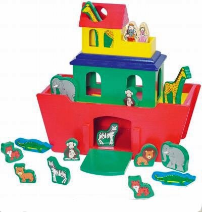 Melissa & Doug: Noah's Ark Activity Set, 22 Piece Set, Solid Wood by Melissa & Doug