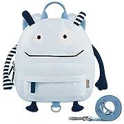 GAGAKU Kinderrucksack mit Brustgurt Mini Cartoon Kinder Rucksack für Jungen 1-4 Jährige – Blau