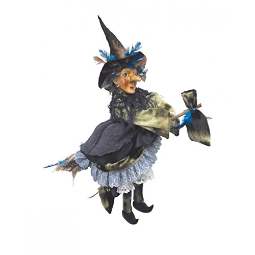 Witches of Pendle - Rowena Witch Flying (Green) -
