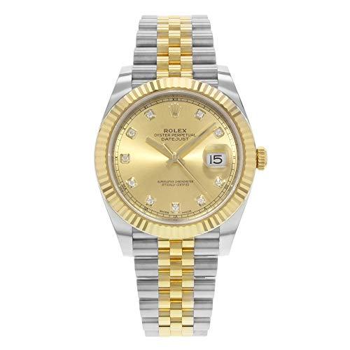 Rolex-Datejust-41-Champagne-Diamond-Steel-and-18K-Yellow-Gold-Jubilee-Mens-Watch-126333CDJ