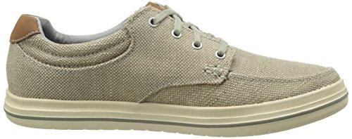 Skechers Define Soden - Zapato con cordones, Hombre Marrón (Khk)