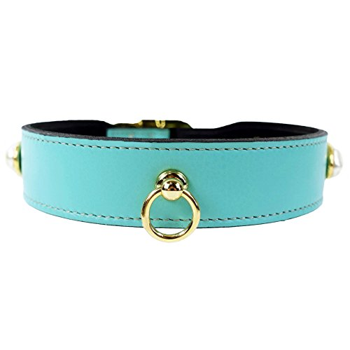Hartman and Rose South Seas Dog Collar in Turquoise, 10-12 Inch