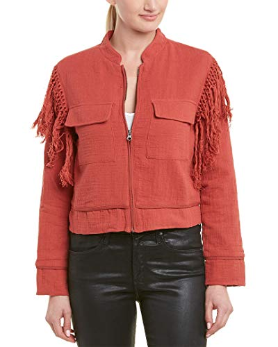 Jack by BB Dakota Junior's North West Slub Gauze Jacket with Fringe, Burnt Orange, Small