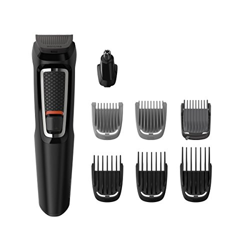 🥇 Philips Barbero MG3730/15 – Recortador de Barba y Precisión 8 en 1