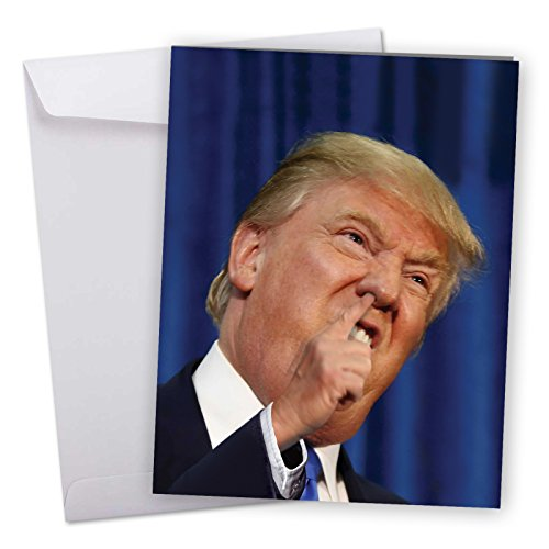 Price comparison product image J3633BDG Jumbo Funny Birthday Card: Trump Pick With Envelope (Extra Large Version: 8.5'' x 11'')