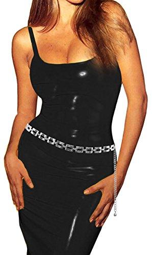 Luna Sosano Womens Rhodium Plated Fashion Antique Chain Belt - Type 102 - Silver
